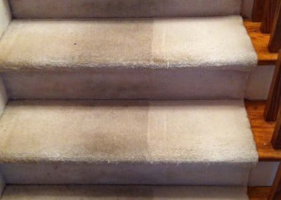 Before and after, staircase